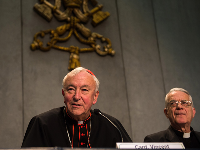 Cardinal-Vincent-Nichols-speaks-at-a-Holy-See-press-conference-in-Rome